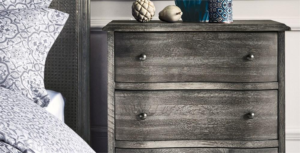 Blenheim Grey 3 Drawer Bedside